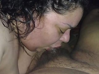 Latina sucking dick