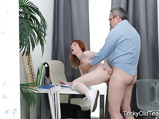 Old teacher tricks Sweet Red into sex..