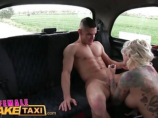FemaleFakeTaxi Big tits blonde fucks her..