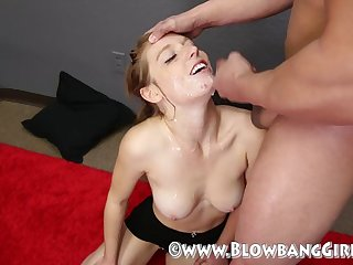 Redhead Caleigh Gets Covered In Cum