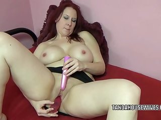 Lia Shayde is playing with two big toys